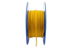 Connect 30037 Yellow Thin Wall Single Core Cable 28/0.30 50m